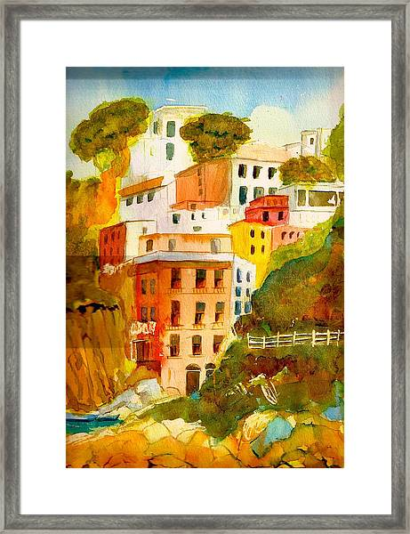 Cinque Terre Framed Print by KC Winters