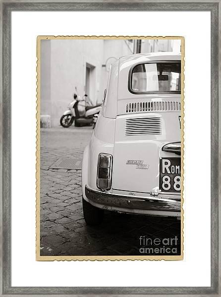 Cinquecento Black And White Framed Print