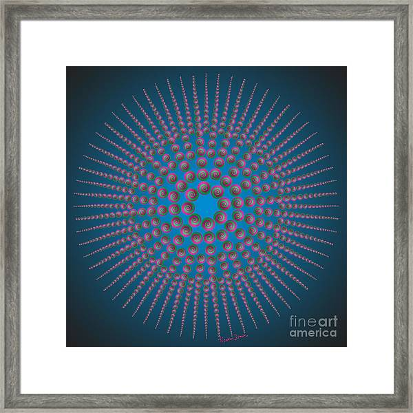Circle Of My Eye Framed Print