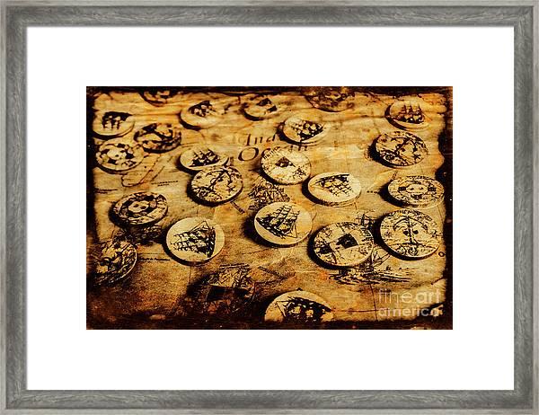Circle Sails Framed Print