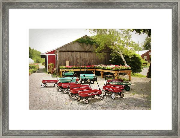 Circle The Wagons Framed Print