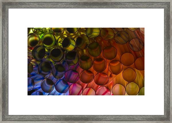 Circles In Color Framed Print