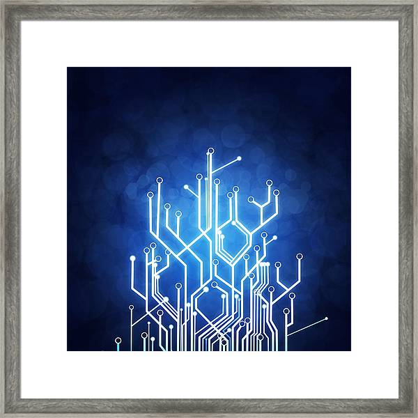 Circuit Board Technology Framed Print