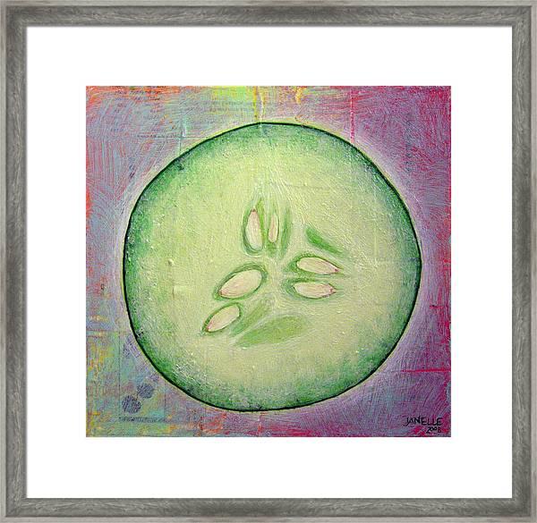 Circular Food - Cucumber Framed Print