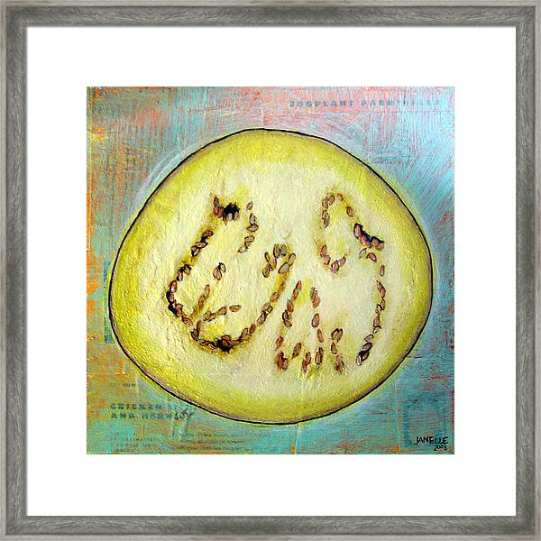 Circular Food  - Eggplant Framed Print
