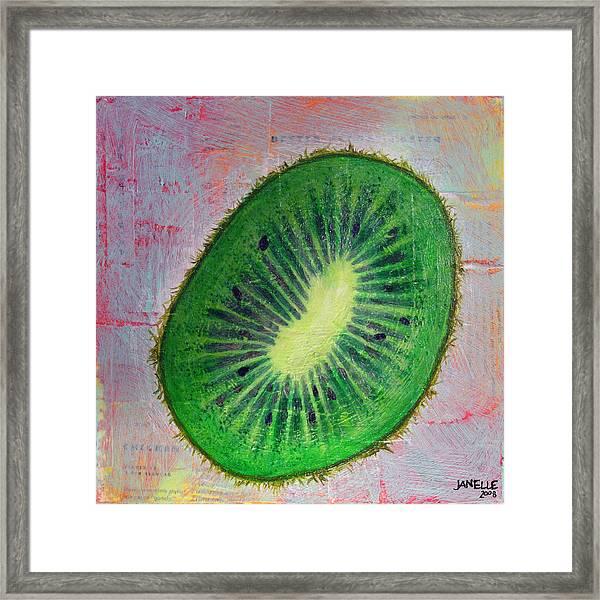 Circular Food - Kiwi Framed Print
