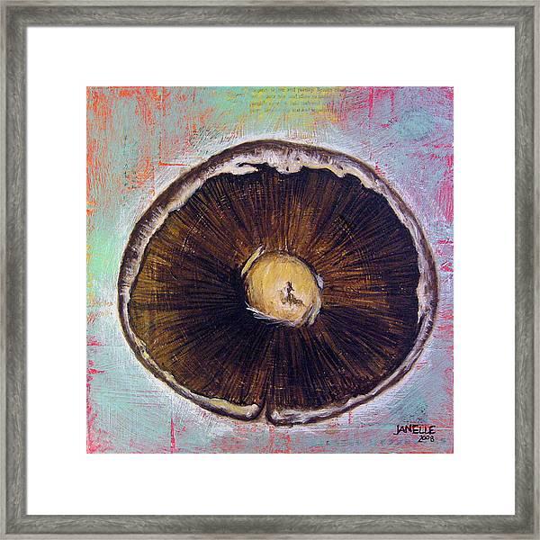 Circular Food - Mushroom Framed Print