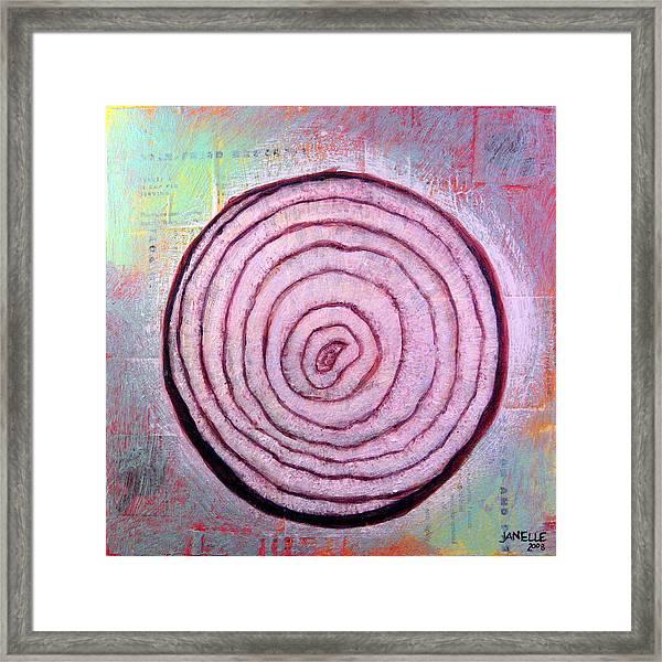 Circular Food - Onion Framed Print