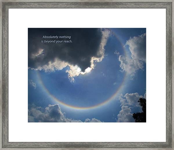 Circular Rainbow Inspiration Framed Print