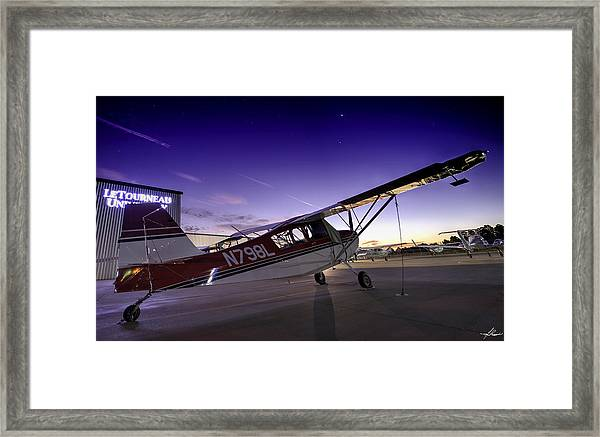 Citabria In The Twilight Of Dawn Framed Print