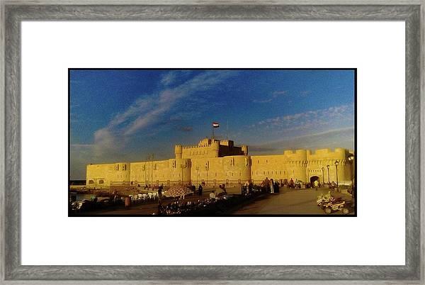 Citadel, Alexandria, Egypt Framed Print