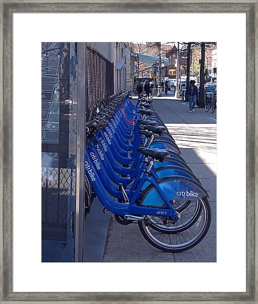 Citibike Framed Print