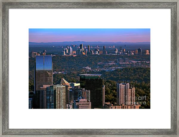 Cities Of Atlanta Framed Print