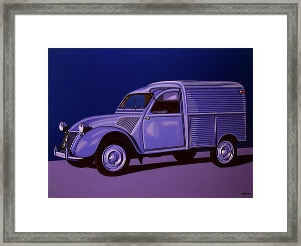 Citroen 2cv Azu 1957 Painting Framed Print