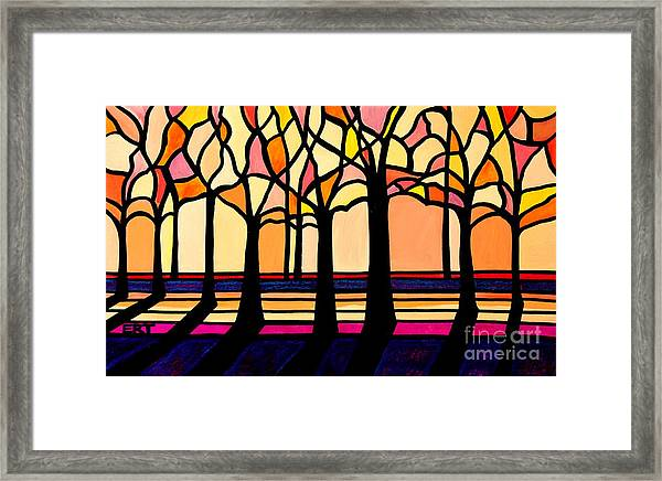 Citrus Glass Trees Framed Print