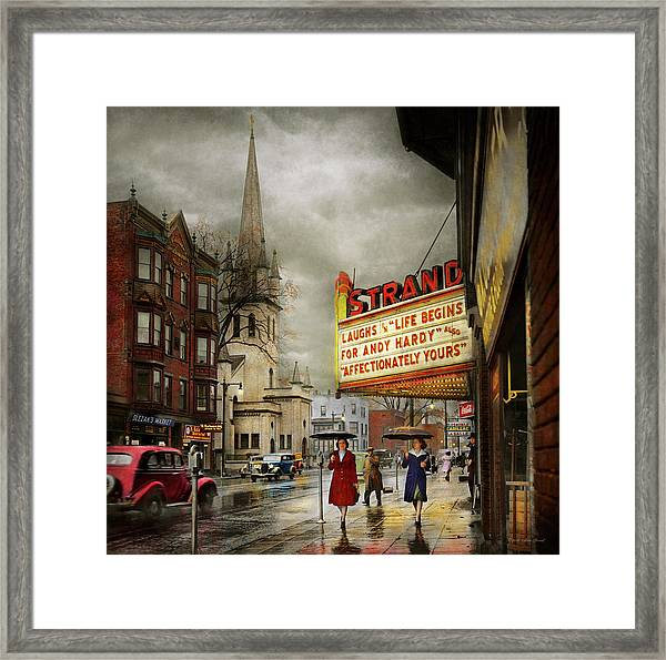 City - Amsterdam Ny - Life Begins 1941 Framed Print