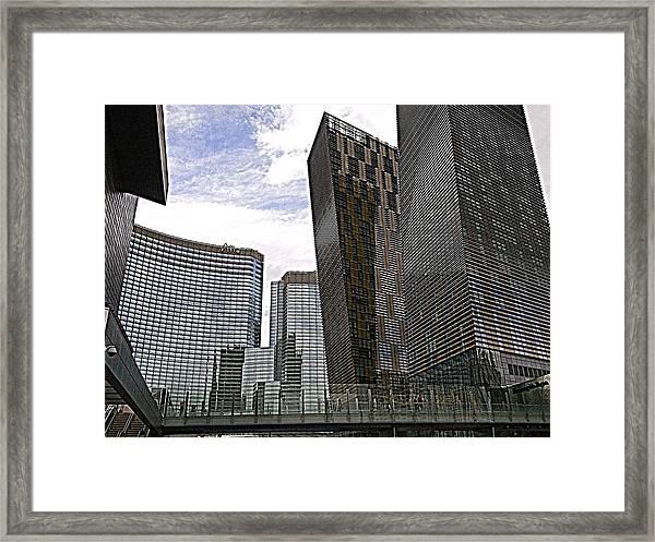 City Center At Las Vegas Framed Print