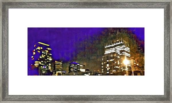 City Flames Framed Print