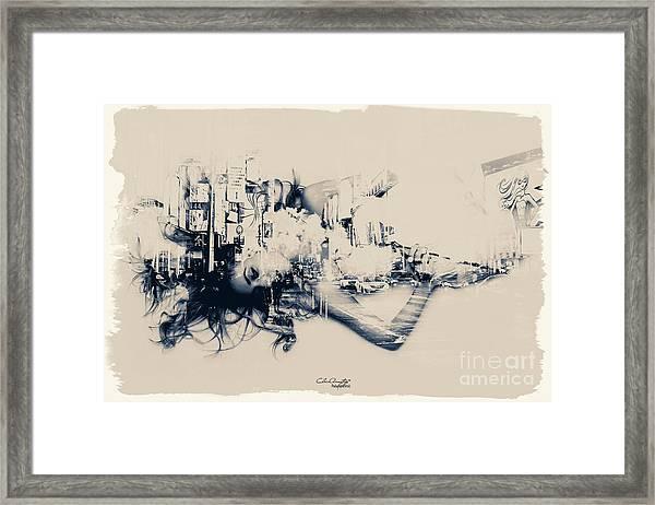 City Girl Dreaming Framed Print