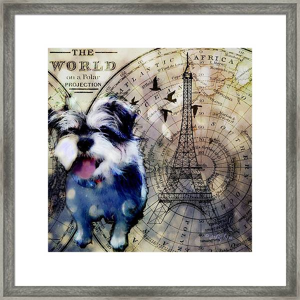 City Girl Goes To Paris Framed Print
