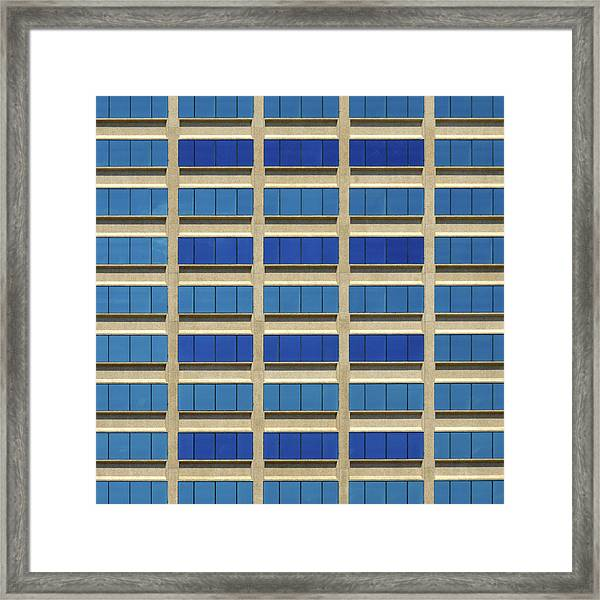 City Grid Framed Print