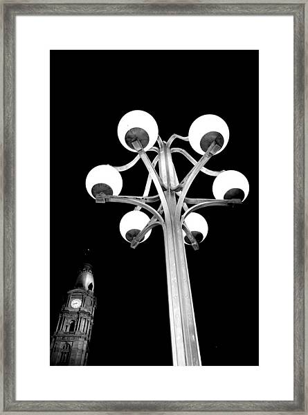 City Hall Lamp Framed Print by Andrew Dinh