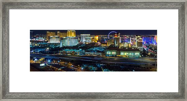 City Lifescape View Las Vegas Framed Print