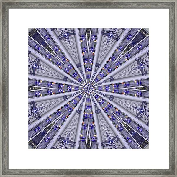 Framed Print featuring the digital art City Lights 1649 by Brian Gryphon