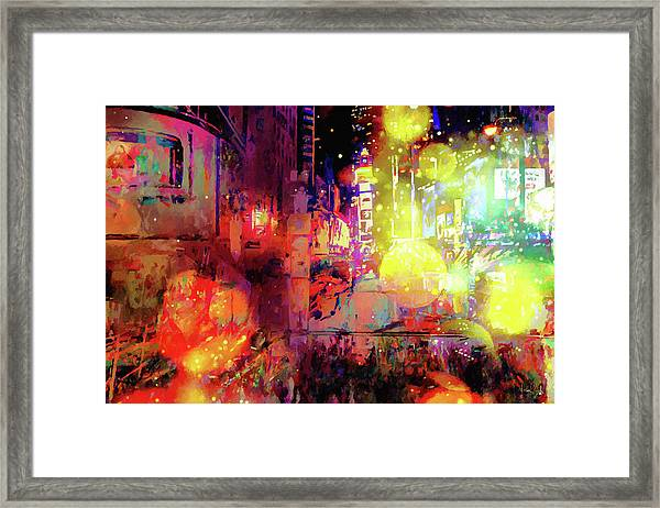 City Nights Framed Print
