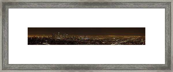 City Of Angels Panorama Framed Print