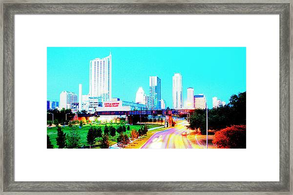 City Of Austin From The Walk Bridge 2 Framed Print