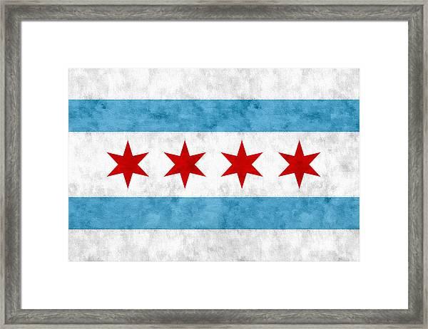 City Of Chicago Flag Framed Print