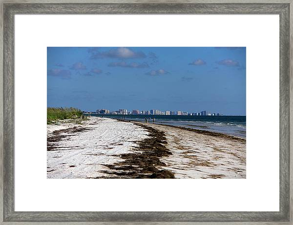 City Of Clearwater Skyline Framed Print