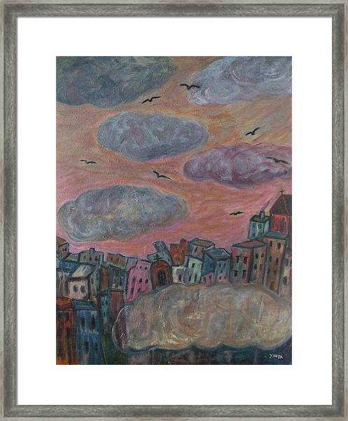 City Of Clouds Framed Print