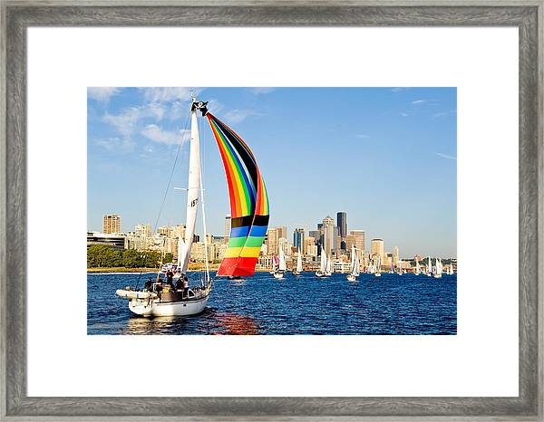 City Of Seattle Framed Print by Tom Dowd
