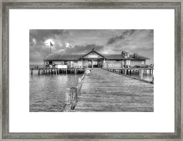 City Pier Anna Maria Island Framed Print
