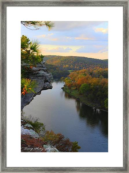 City Rock Bluff Framed Print