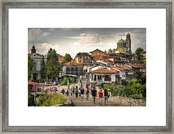 City - Veliko Tarnovo Bulgaria Europe Framed Print