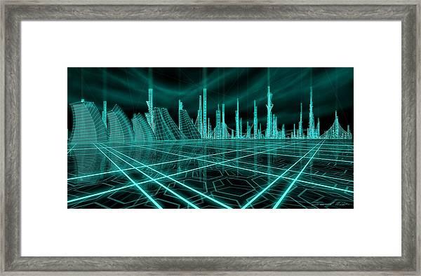 Cityscape 2010 Alpha Framed Print