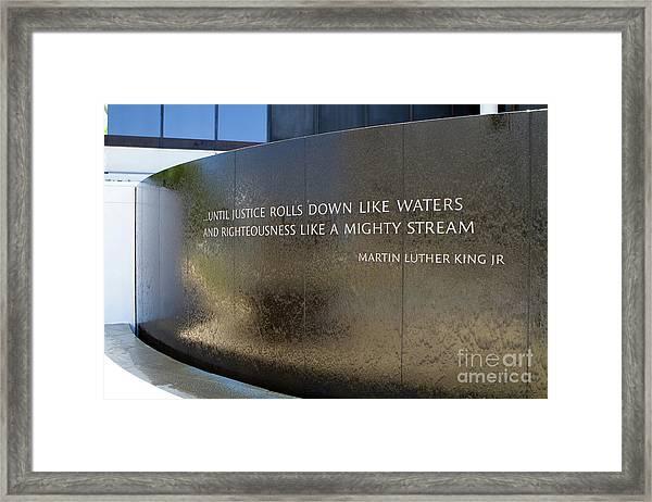 Civil Rights Memorial Framed Print