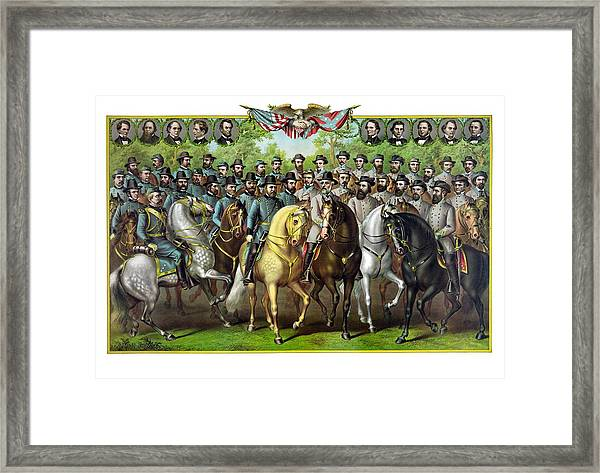Civil War Generals And Statesman Framed Print