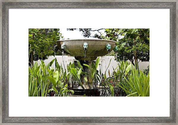 Civit Head Fountain Getty Villa Malibu California Framed Print