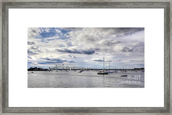 Claiborne Pell Newport Bridge Framed Print