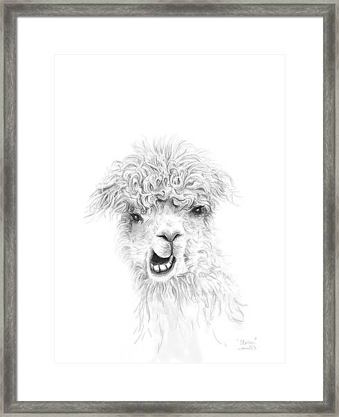 Claire Framed Print