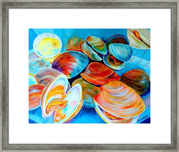 Clams At The Jersey Shore Framed Print