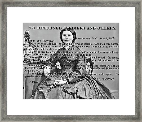 Clara Barton Framed Print