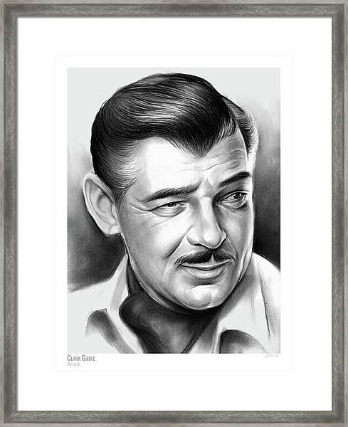 Clark Gable 26aug17 Framed Print