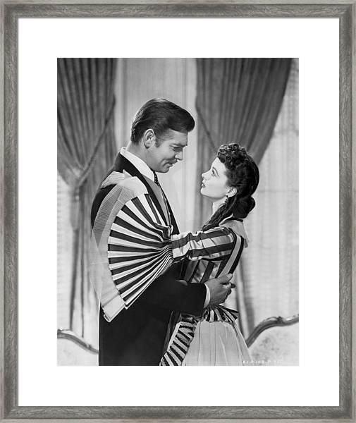 Clark Gable And Vivien Leigh Framed Print