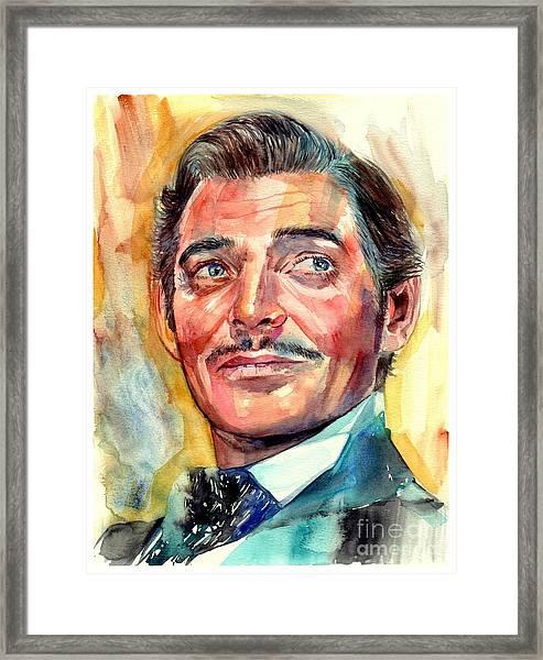 Clark Gable Portrait Framed Print