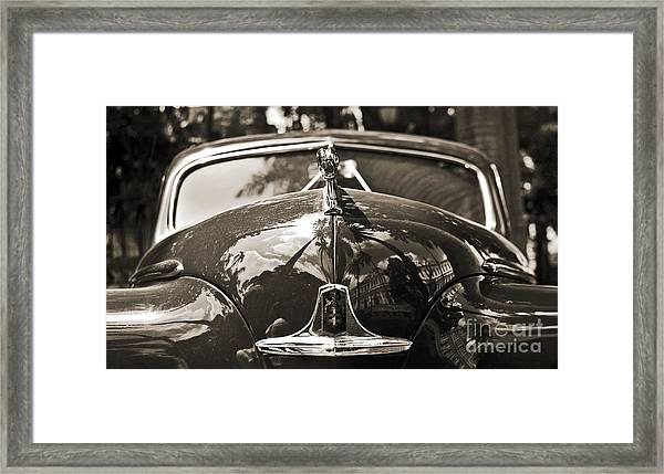 Classic Car Detail - Dodge 1948 Framed Print